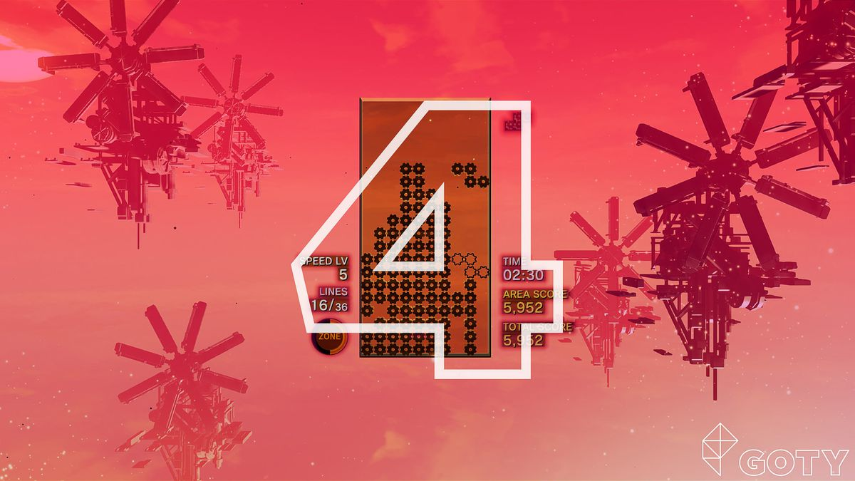 Tetris Effect Polygon GOTY art