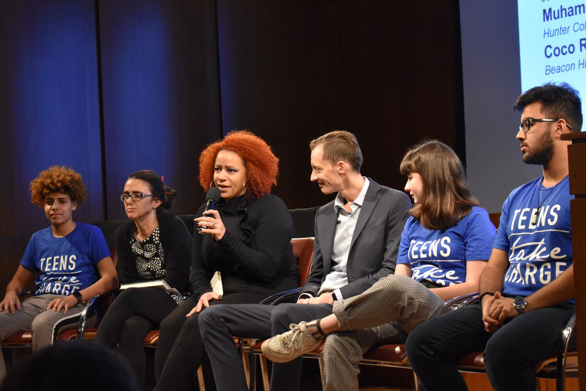 Students at a Teens Take Charge forum with Nikole Hannah-Jones