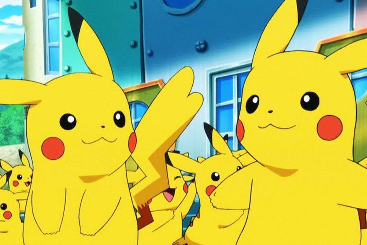 a pair of pikachu