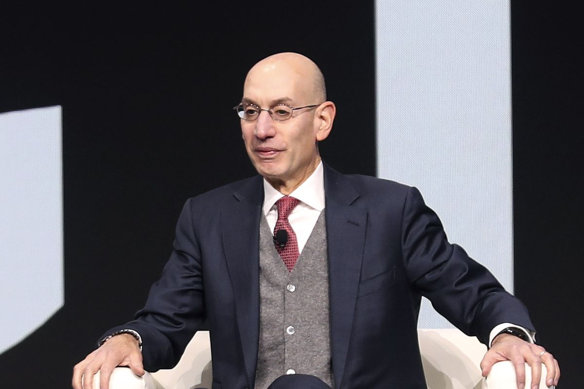 NBA Commissioner Adam Silver speaks during the Qualtrics X4 Summit at the Salt Palace Convention Center in Salt Lake City on Thursday, March 7, 2019.