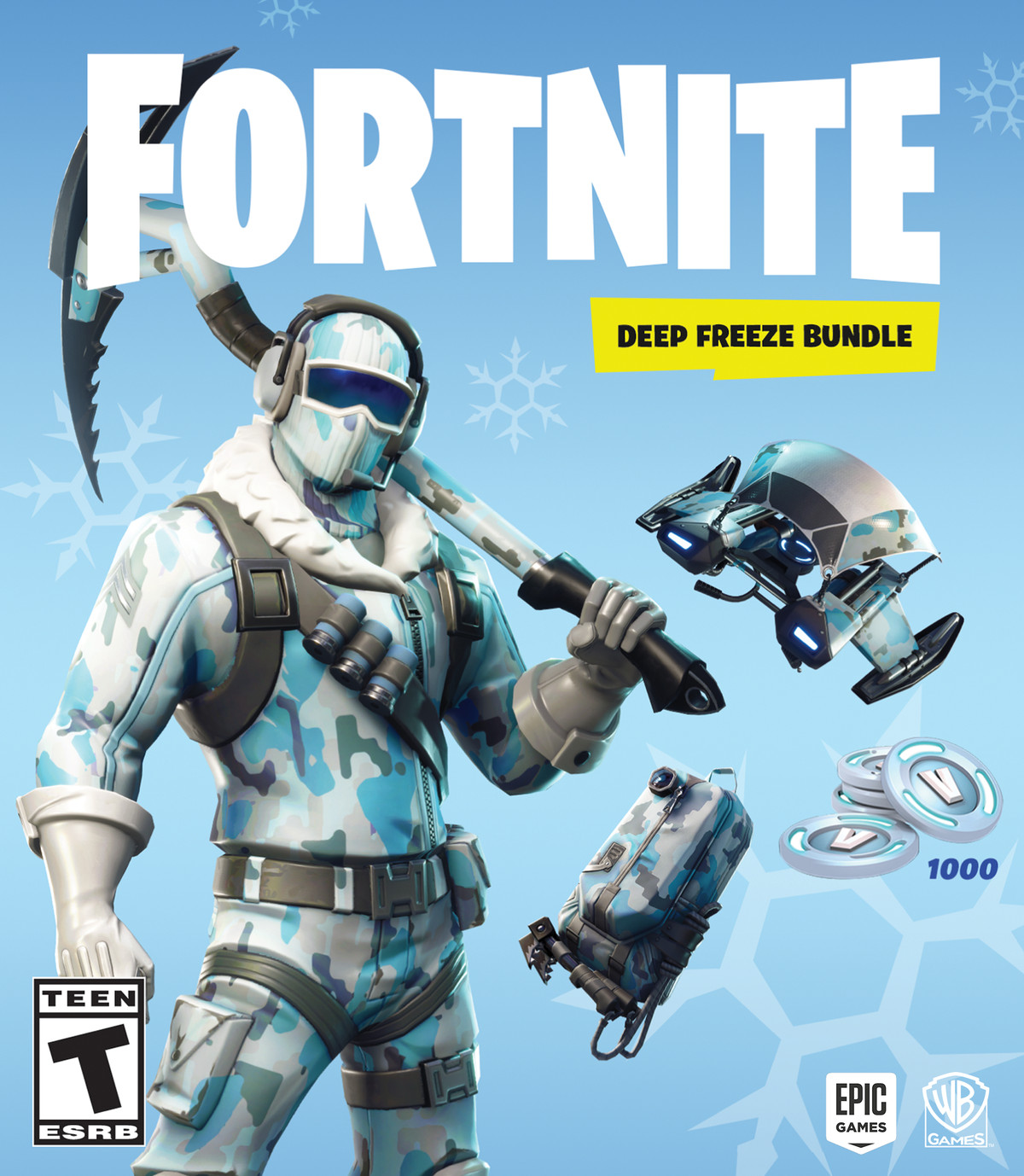 The box art for Fortnite: Deep Freeze Bundle