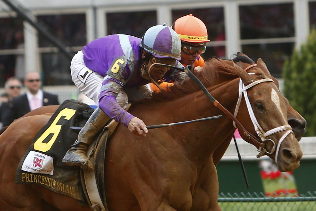 Princess of Sylmar edges Beholder in the 2013 Kentucky Oaks. They'll face eachother again in the Breeders' Cup Distaff at Santa Anita Park on November 1st, 2013.