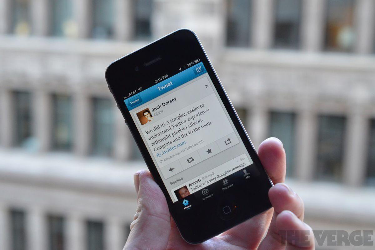 Twitter redesigned iphone app