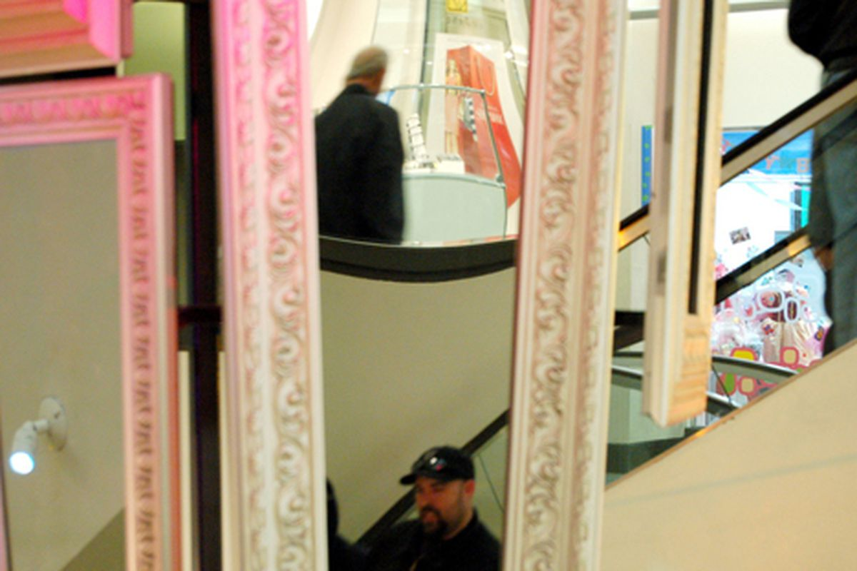 """Mindblowing elevators-and-mirrors shot via <a href=""""http://www.flickr.com/photos/atwatervillage/3284039976/in/pool-708420@N23"""">Atwater Village Newbie</a>/<a href=""""http://www.flickr.com/groups/708420@N23/pool/"""">Racked Flickr Pool</a>"""