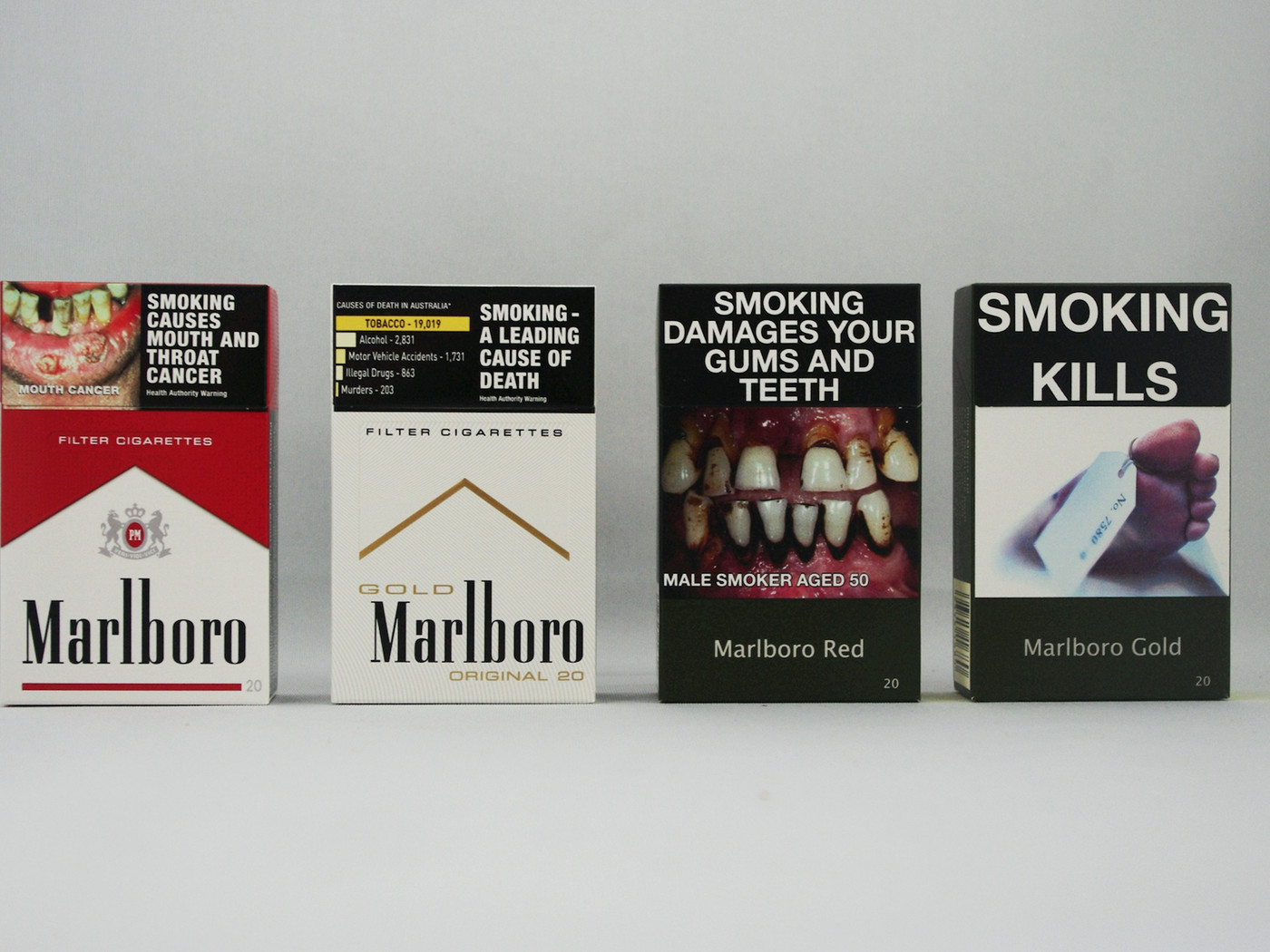 Cigarette packs are being stripped of advertising around the world