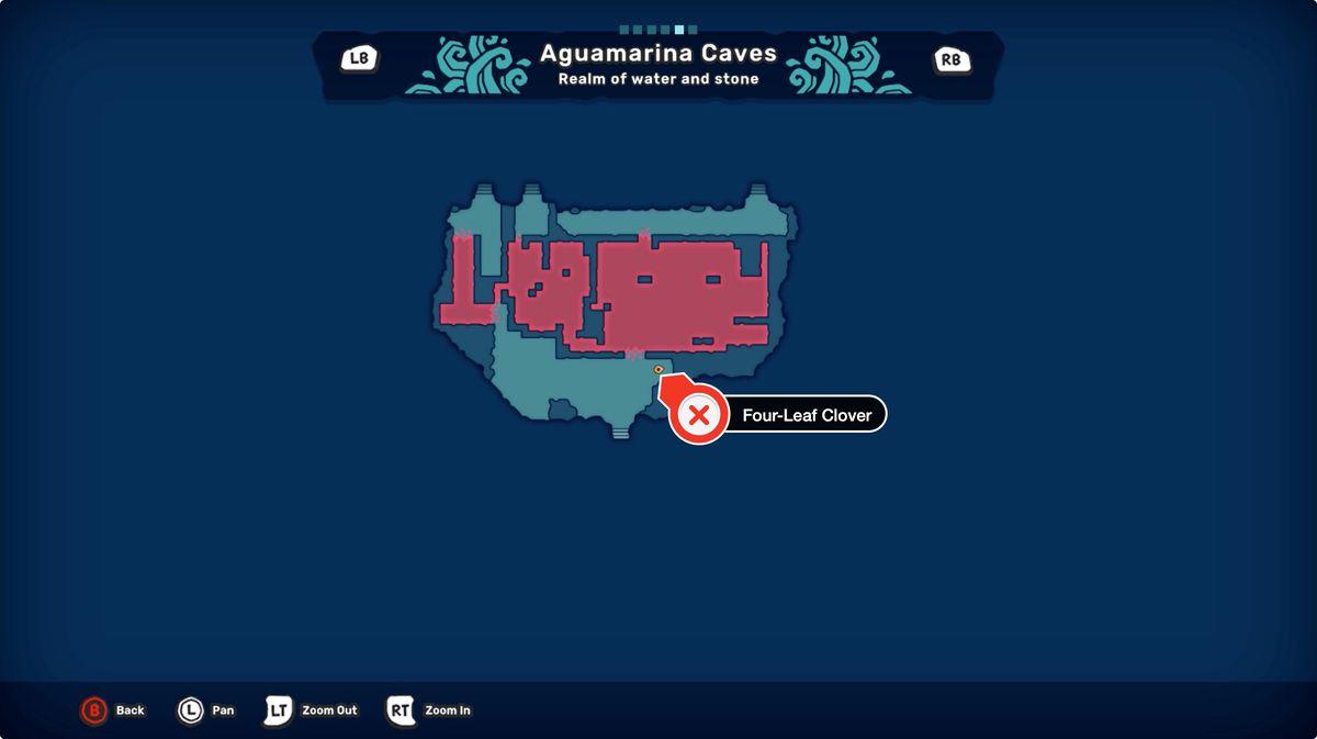 Temtem Aguamarina Caves Four-Leaf Clover location