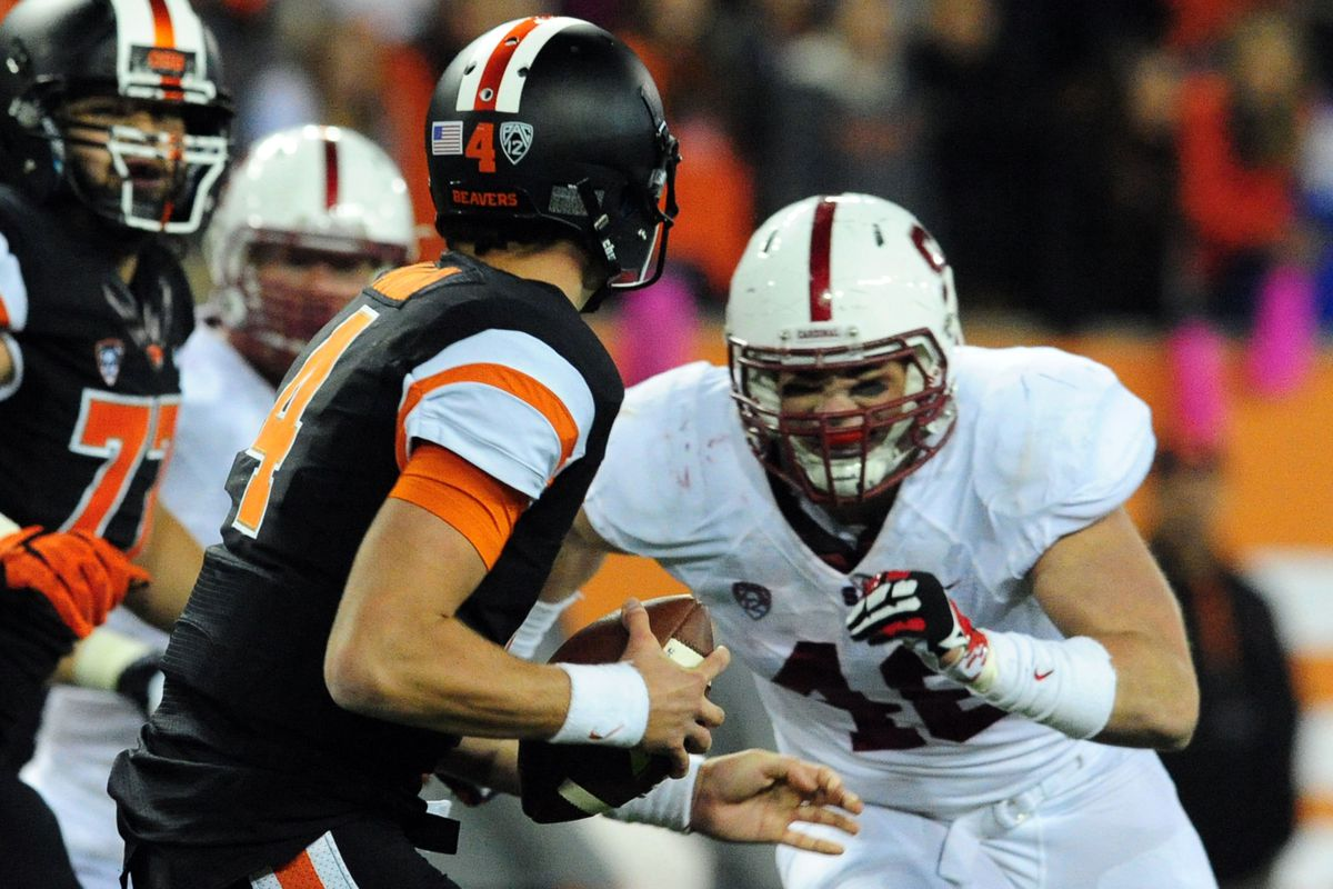 Mannion could not save the Beavers from the onslaught of Stanford.