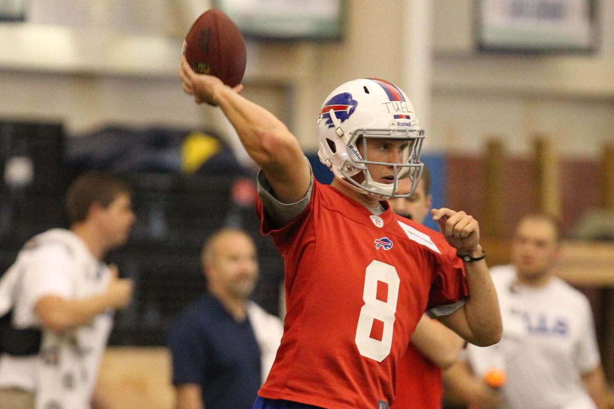 No. 8 looks odd on Jeff Tuel. Could he be hanging on to that jersey all season?