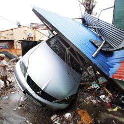 Typhoon damage in Tacloban, Friday, Nov. 22, 2013.