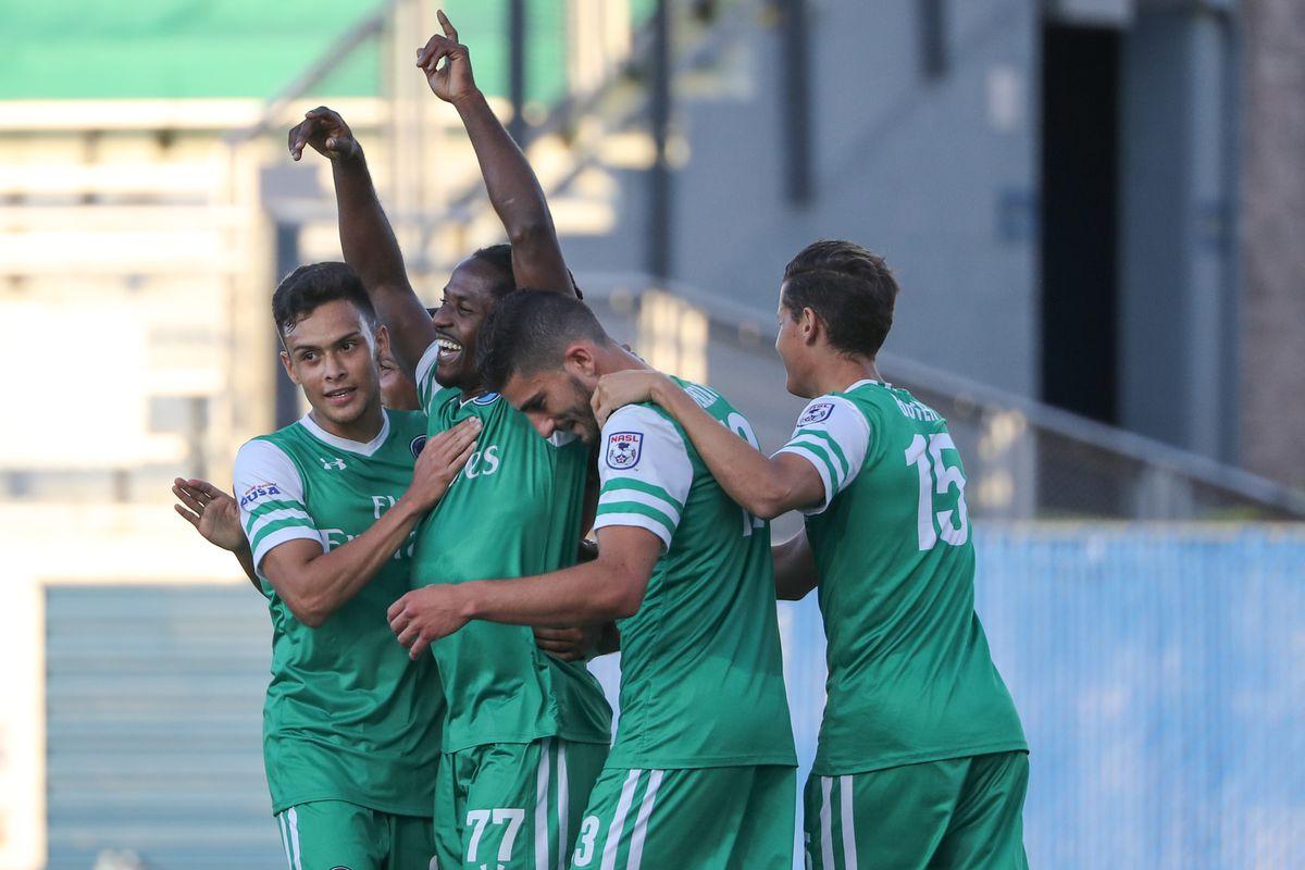 "Mkosana celebrates his 45"" goal"
