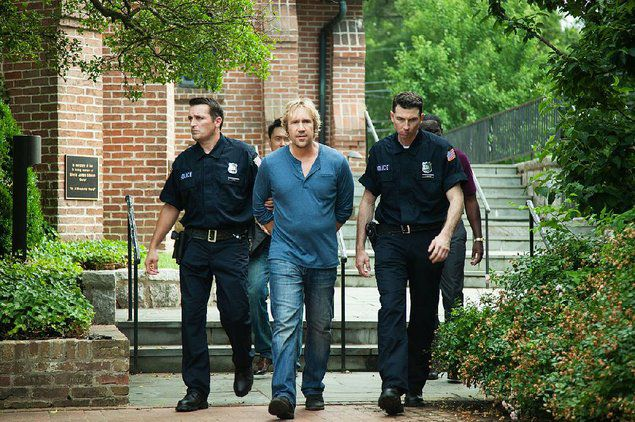 In the final scene of God's Not Dead 2, a pastor (David A.R. White) is hauled away in handcuffs for refusing to comply with an order to submit his sermon to officials for review.