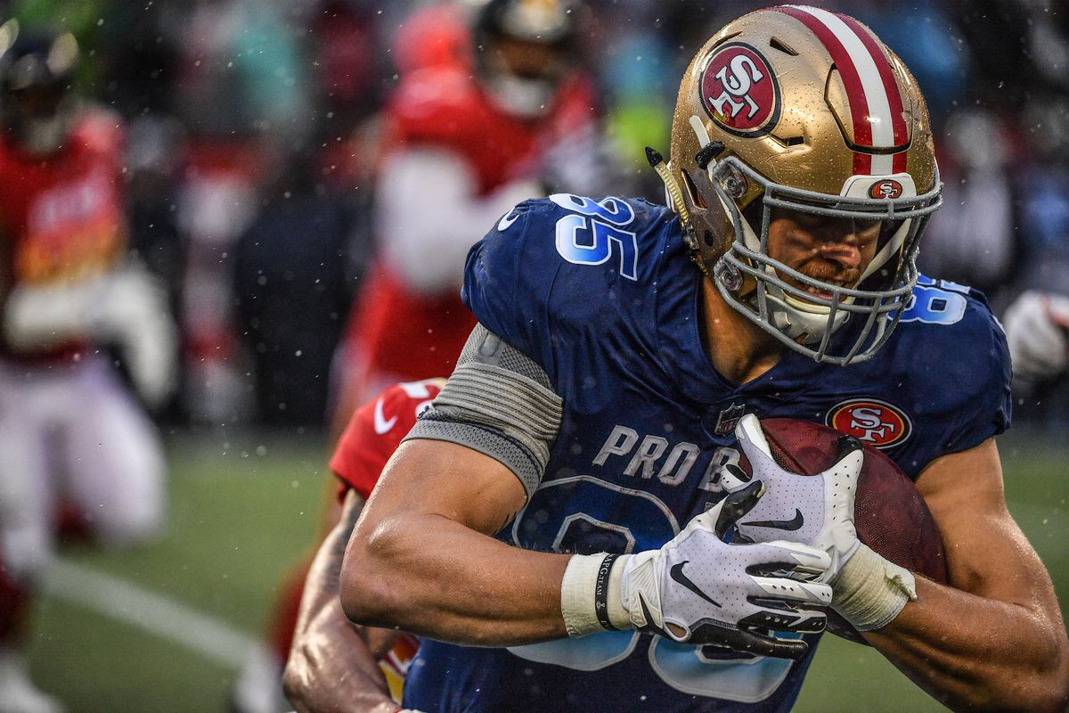 49ers News George Kittle Thanks His Tight Ends Coach From