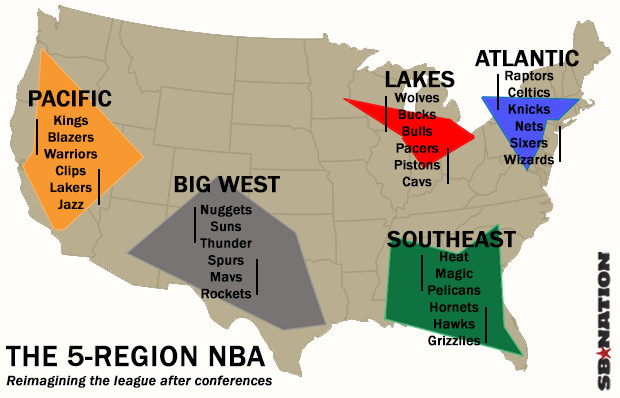 This Proposal Will Fix Conference Imbalance And The NBA Schedule - Nba teams map
