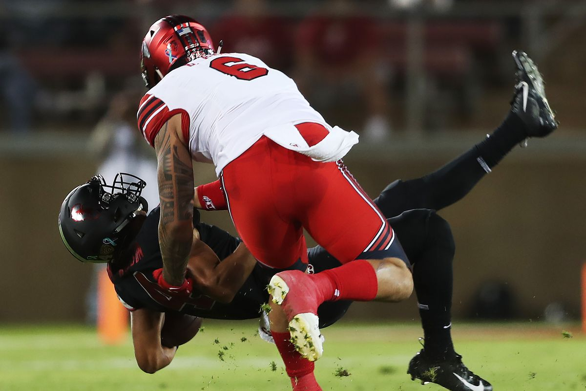 The 6-foot-3, 257-pound Bradlee Anae led Utah in sacks for three consecutive seasons. He concluded his career with a school-record 30. Anae also set program marks for career tackles for loss (245) and sack yardage (210).
