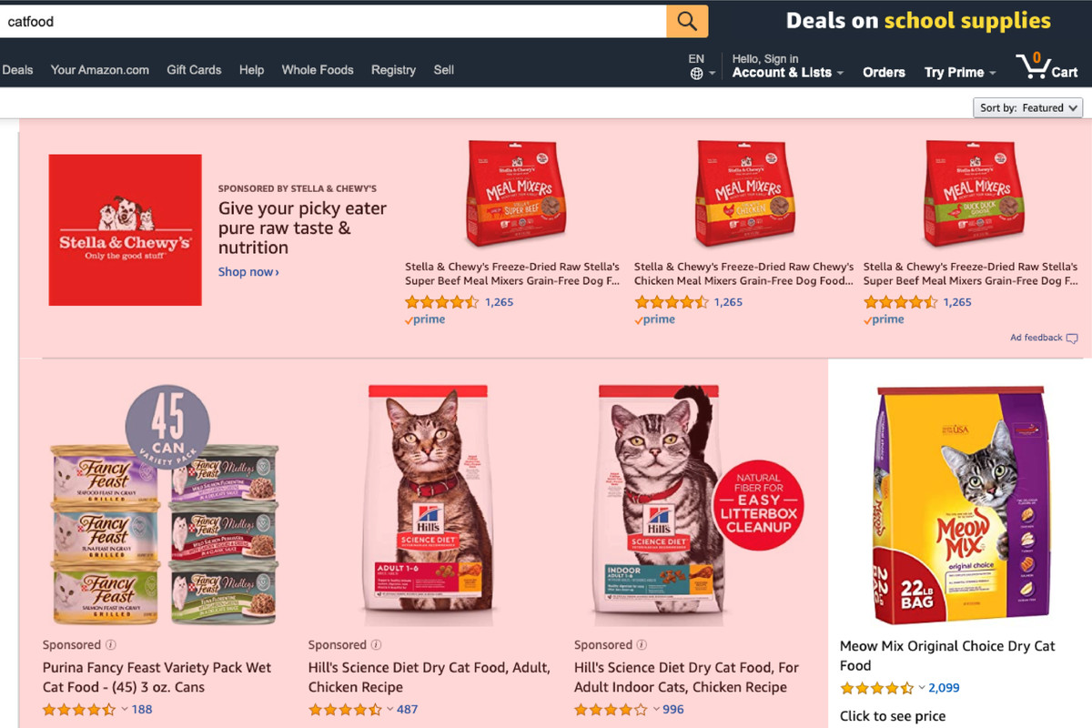 Amazon S Sponsored Ads Are Becoming A Bigger Portion Of Product Views Vox