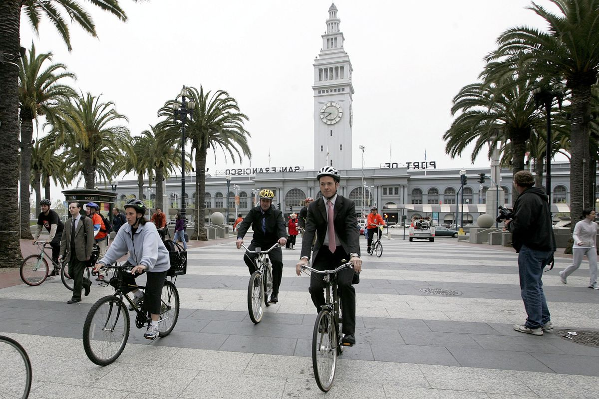 Bay Area Takes Part In 12th Annual Bike To Work Day