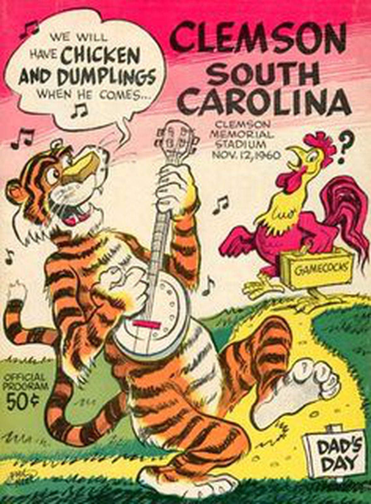 historical eye of the tiger clemson v south carolina shakin the