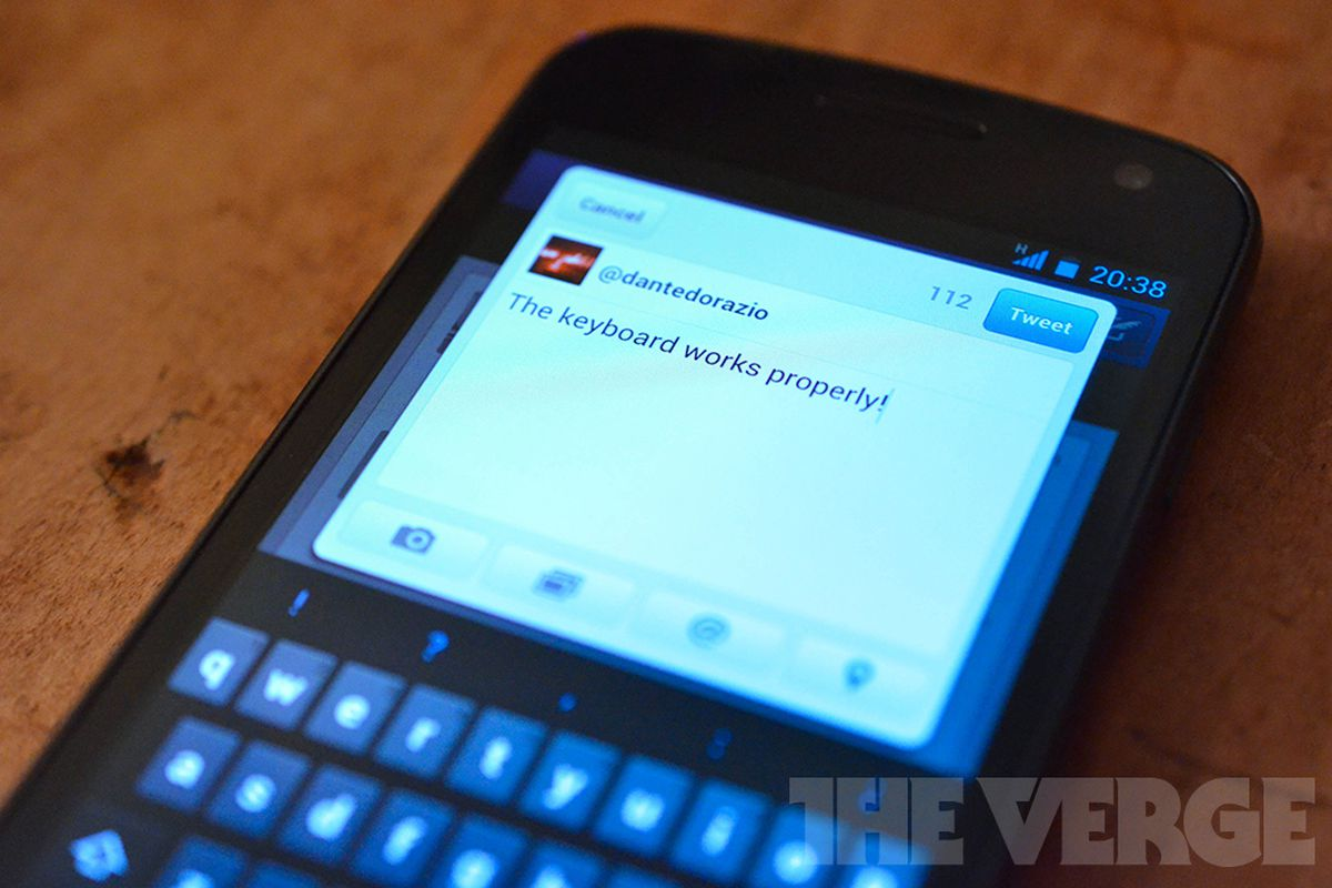 Twitter Android keyboard
