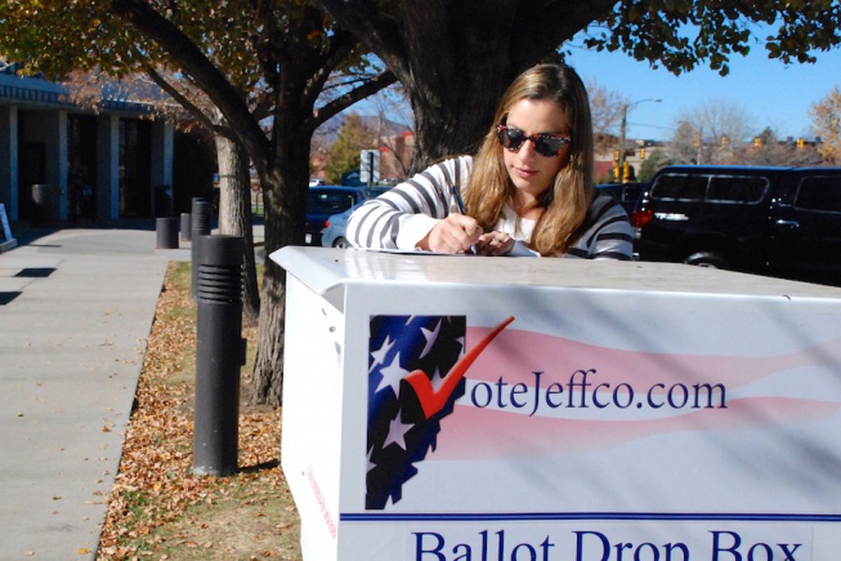 The deadline for dropping off ballots is 7 p.m.