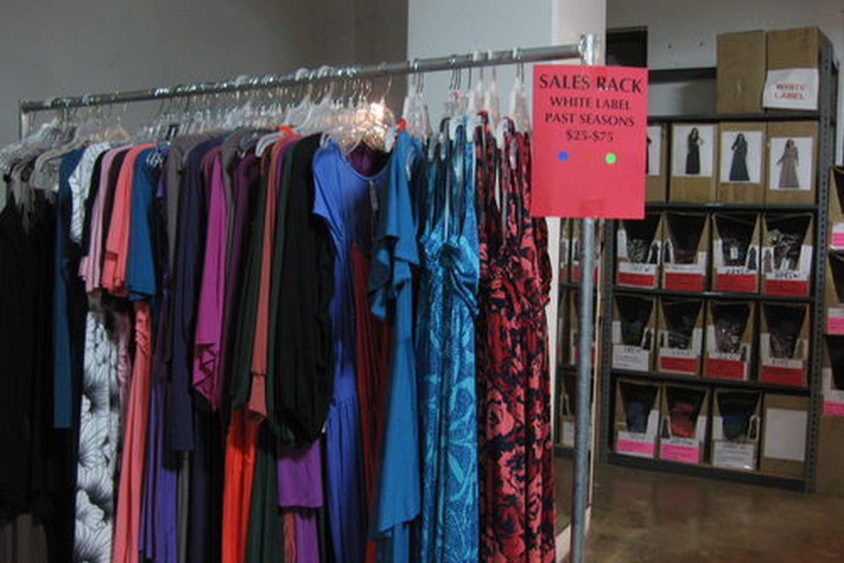 """An image from Rachel Pally's <a href=""""http://la.racked.com/archives/2012/02/02/4000_square_feet_of_rachel_pally_goods_for_sale_in_dtla.php"""">February warehouse sale</a>."""
