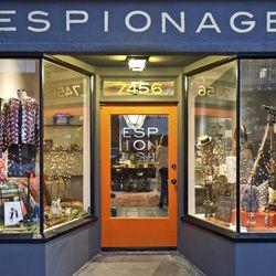 "<span class=""credit"">Image <a href=""http://espionagela.com/""target=""_blank"">via</a></span></br> <b><a href=""http://espionagela.com/""target=""_blank"">Espionage</a></b></br> <b>Address</b>: 7456 Beverly Boulevard</br> <b>Selling options</b>: Consignment o"