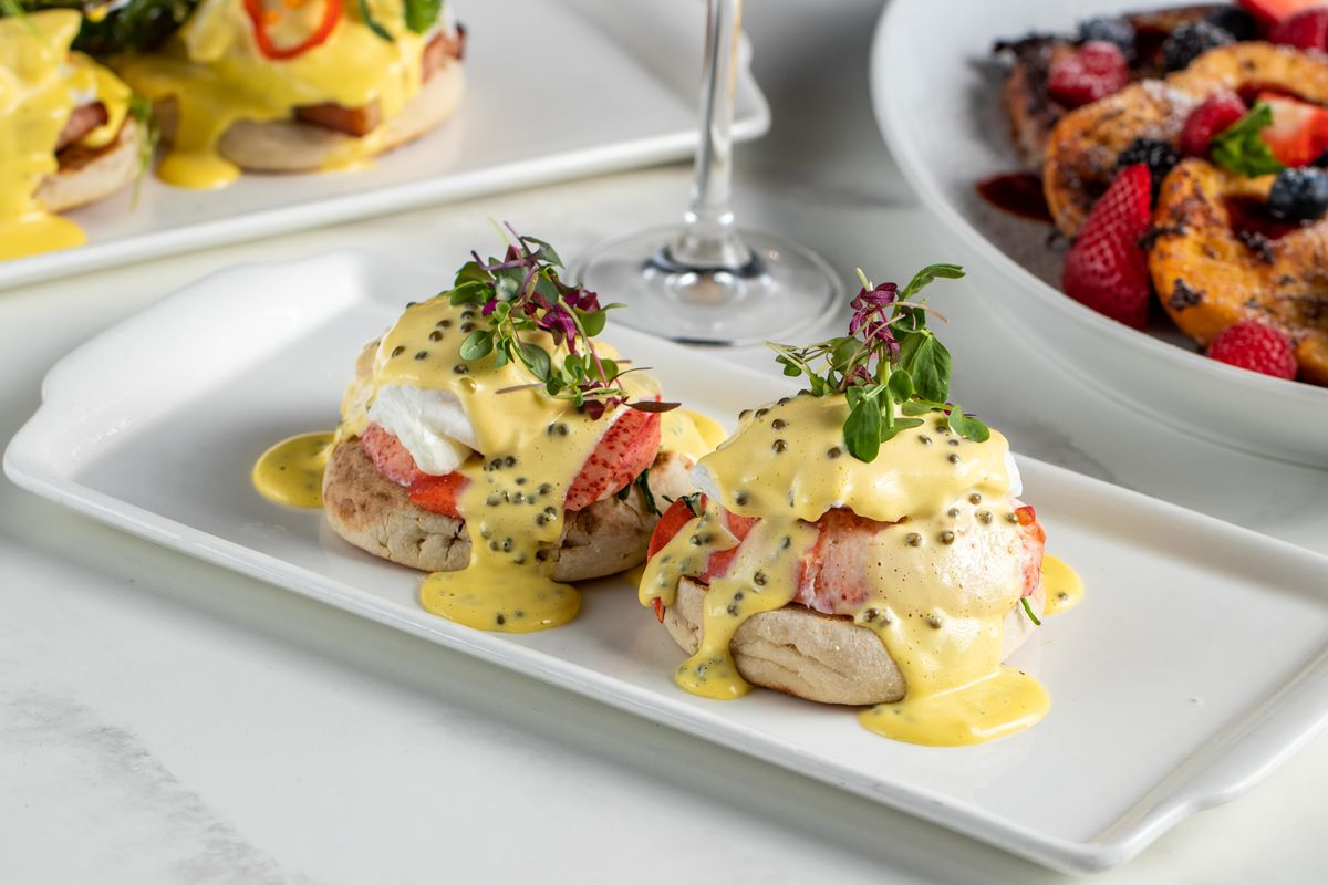 Lobster and eggs Benedict