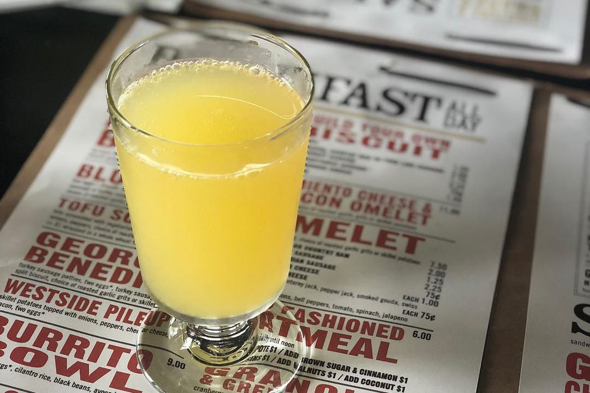 A mimosa at West Egg Cafe in Westside