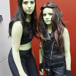 Megyn Pilon and Karisa Pendleton attend Comic Con during the convention at the Salt Palace in Salt Lake City Friday, Sept. 5, 2014.