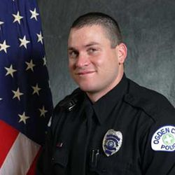 Kasey Burrell, one of six police officers shot Wednesday night, Jan. 4, 2012, while serving a drug-related search warrant. Another officer, Agent Jared Francom, of the Ogden Police Department, died as a result of his injuries. The seven-year veteran of the police department is survived by a wife and two young children.