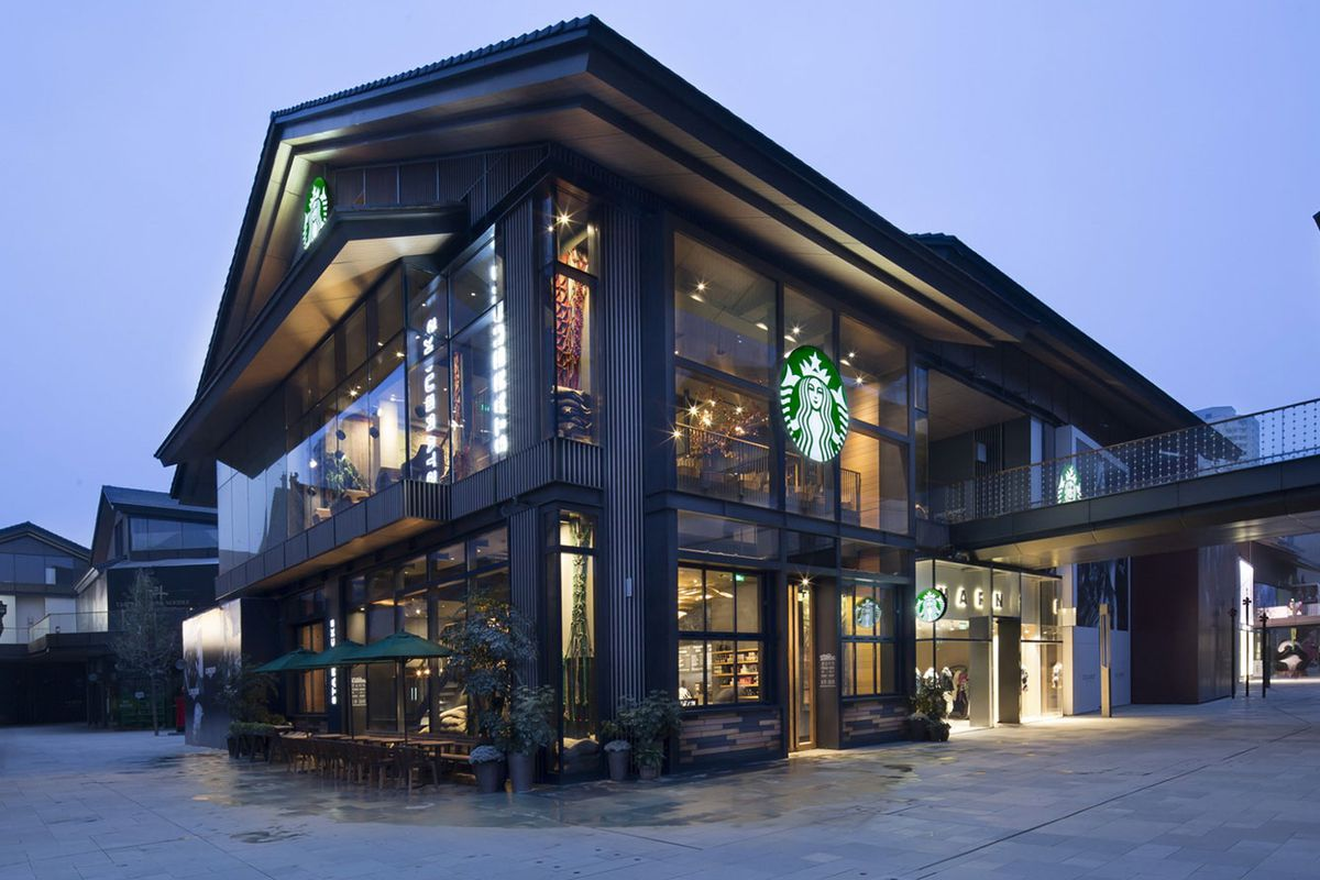 Starbucks Fancy New China Flagship Store Features A Floor