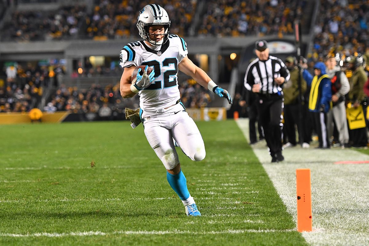 panthers rb christian mccaffrey is on pace to break the all time