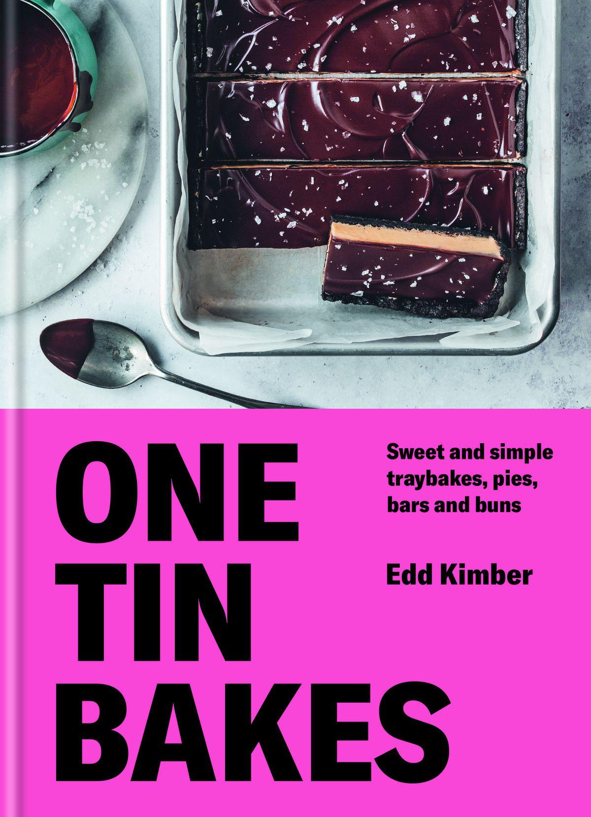 Couverture de livre One Tin Bakes avec un plateau de chocolat