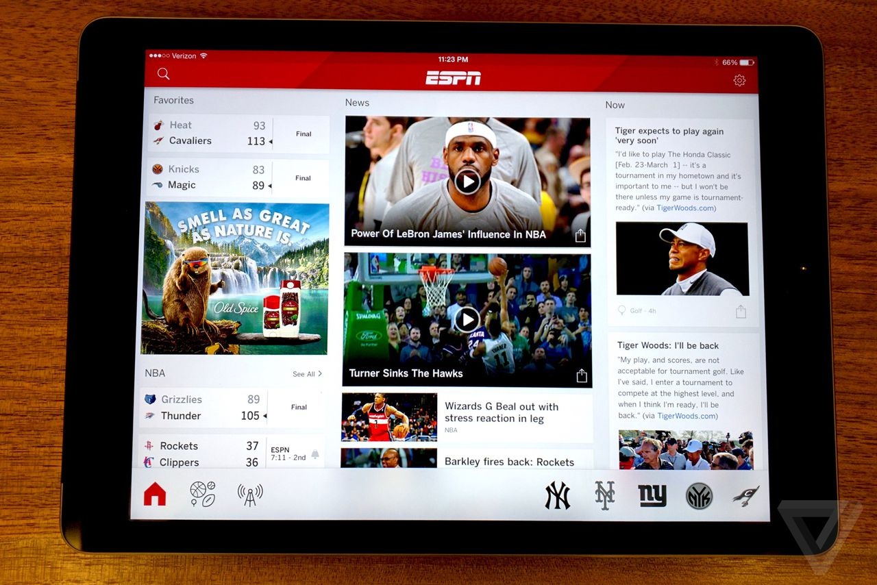 This is the new ESPN app | The Verge