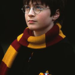 """Daniel Radcliffe as Harry Potter in """"Harry Potter and the Sorcerer's Stone."""""""