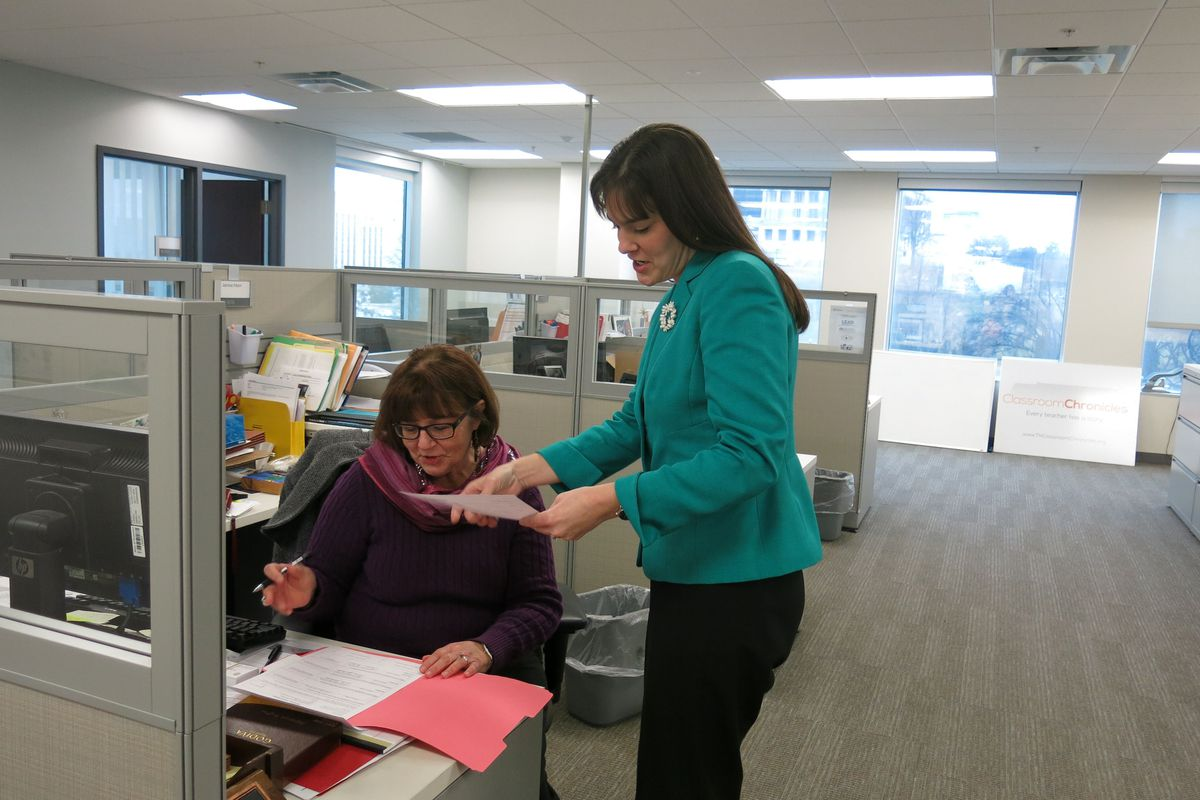 State Education Commissioner Candice McQueen during her first week on the job