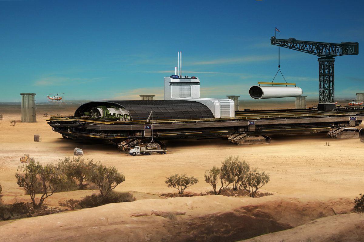 A rendering of the Hyperloop Technologies hyperloop