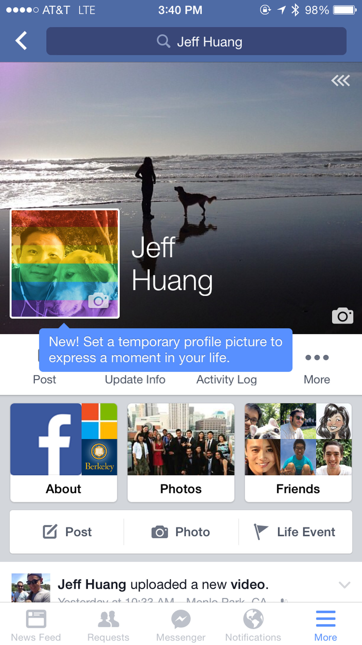 Facebook tests temporary profile pictures for supporting ...