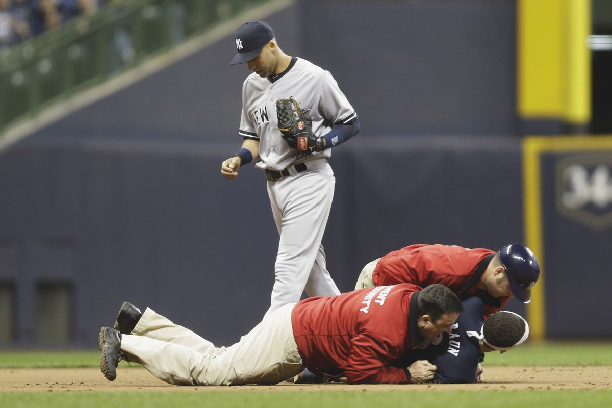 This is what happens to the person who doesn't want to honor Derek Jeter.
