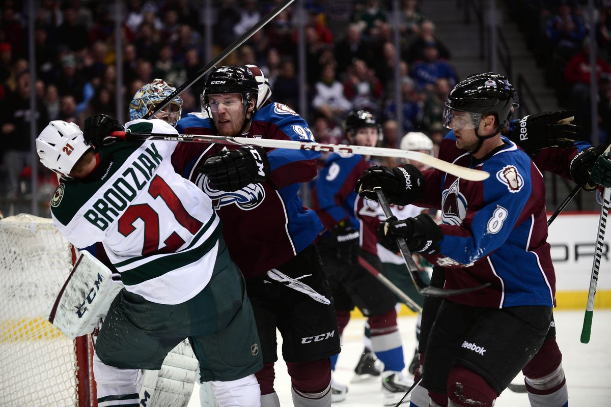 See, Mike Yeo! Kyle Brodziak is a willing combatant! Easily worth his paycheck!