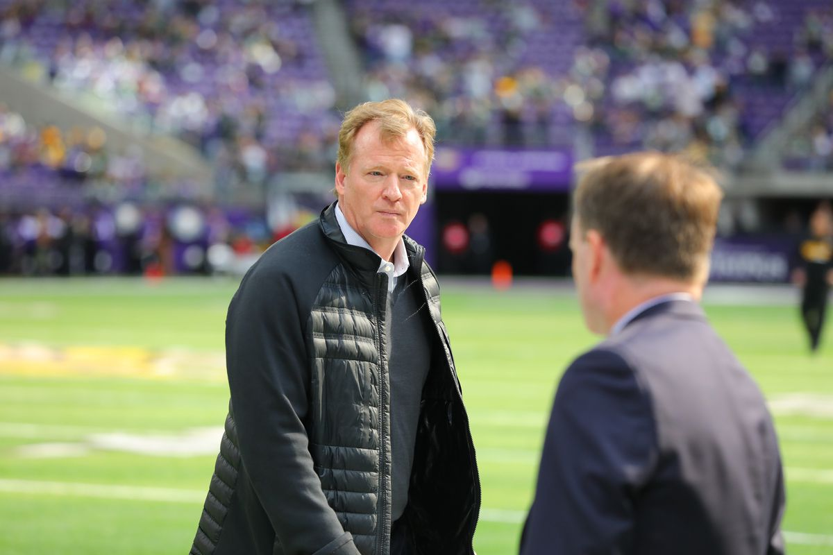 Roger Goodell is staying on as National Football League commissioner for one final contract