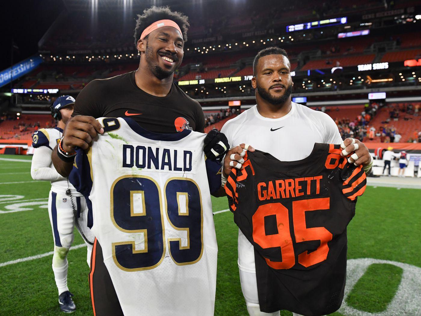 Myles Garrett extension eclipses Aaron Donald in salary for new ...