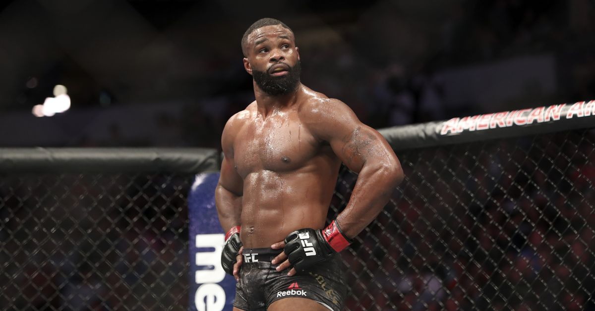 Tyron Woodley reacts to Santiago Ponzinibbio's calls for UFC title shot — 'Take a number'