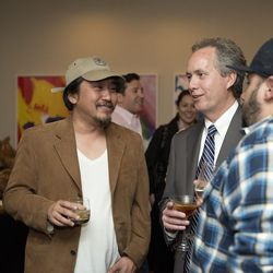 610 Magnolia chef/owner and Top Chef contestant Edward Lee, Louisville mayor Greg Fischer, and Michael Paley formerly of Proof on Main, now of Cincinnati's Metropole