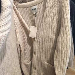 Acne studios chunky knit cardigan, $105 (from $350)