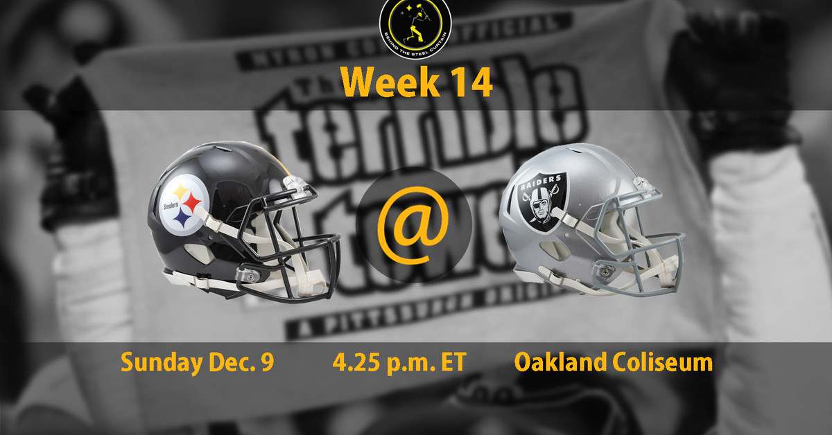 How to watch Steelers vs. Raiders in Week 14: Time, TV Schedule and game information
