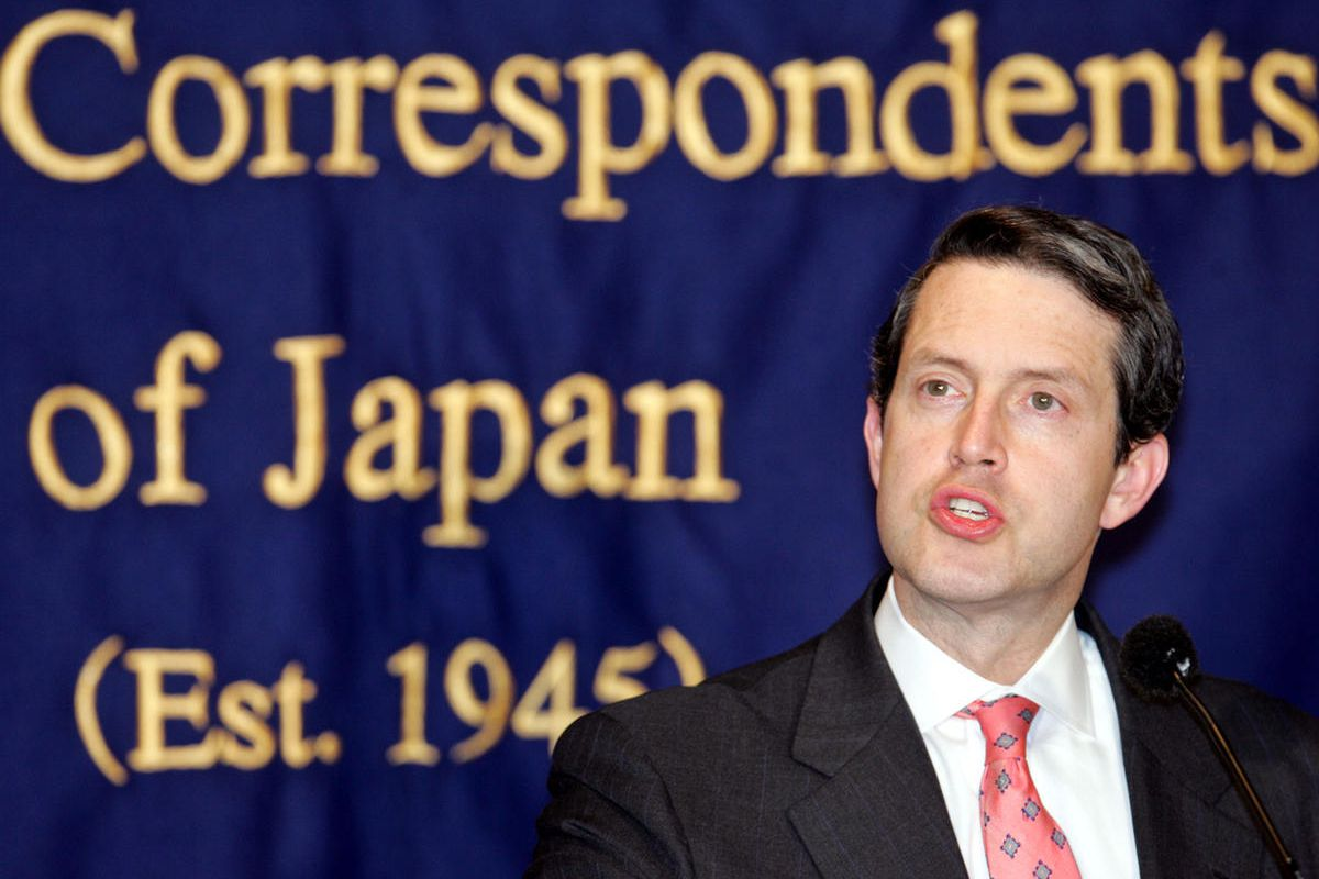 Randal Quarles, U.S. assistant secretary of Treasury, speaks to journalists in Tokyo Thursday, March 10, 2005. Quarles said Thursday China must adopt a more flexible policy on its currency to help address global trade imbalances.