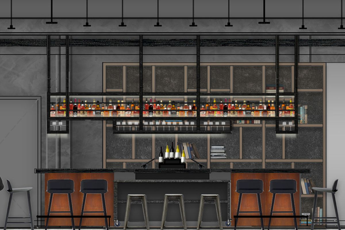 Rendering of Front Bar