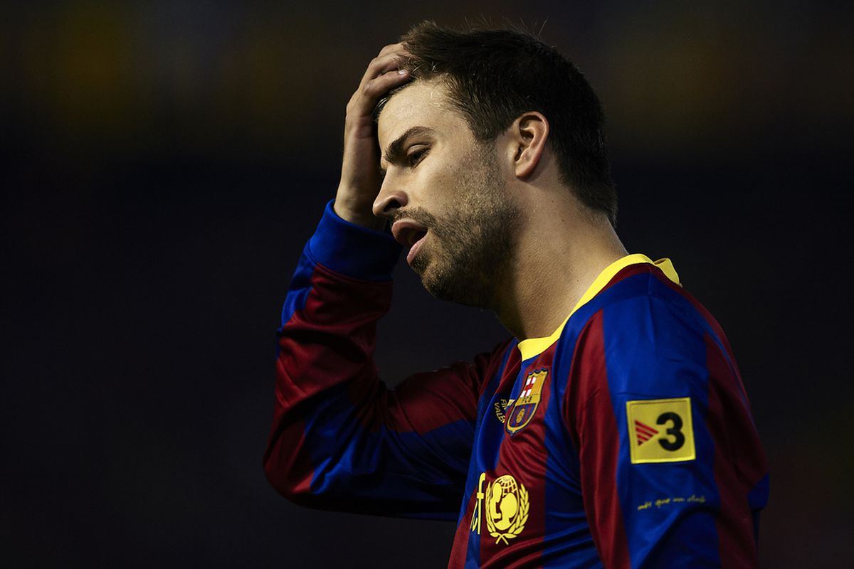 Pique will Join Puyol on the sidelines.