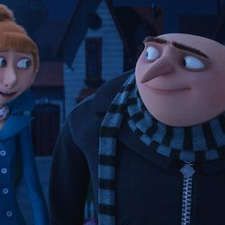 """Lucy (Kristen Wiig) and Gru (Steve Carell) in """"Despicable Me 3."""""""