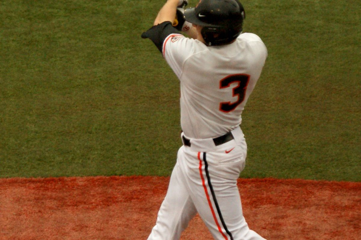 Kavin Keyes contributed a 2 RBI double that produced the winning runs for Oregon St. against USF>